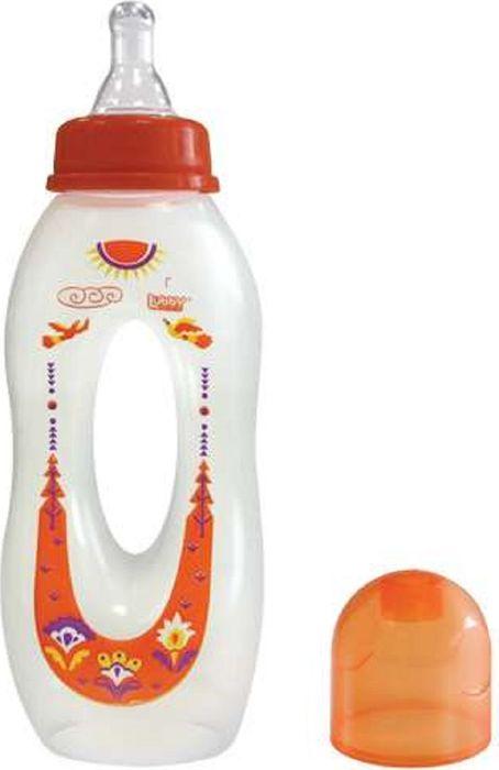 Lubby Бутылочка с силиконовой соской Бублик от 0 месяцев 250 мл