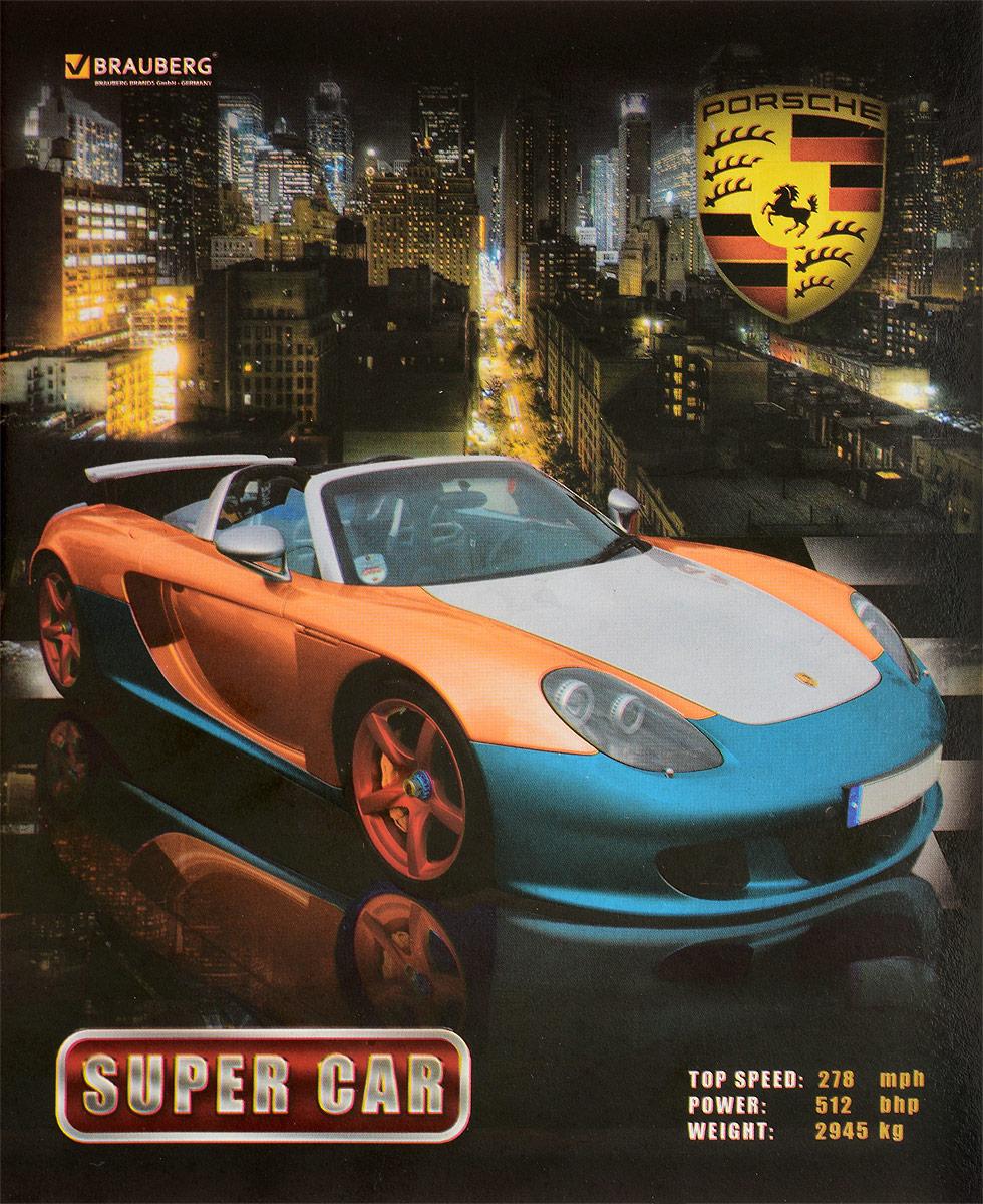Brauberg Тетрадь Авто Porsche 48 листов в клетку внешний жесткий диск lacie stet2000400 porsche design 2tb серебристый stet2000400