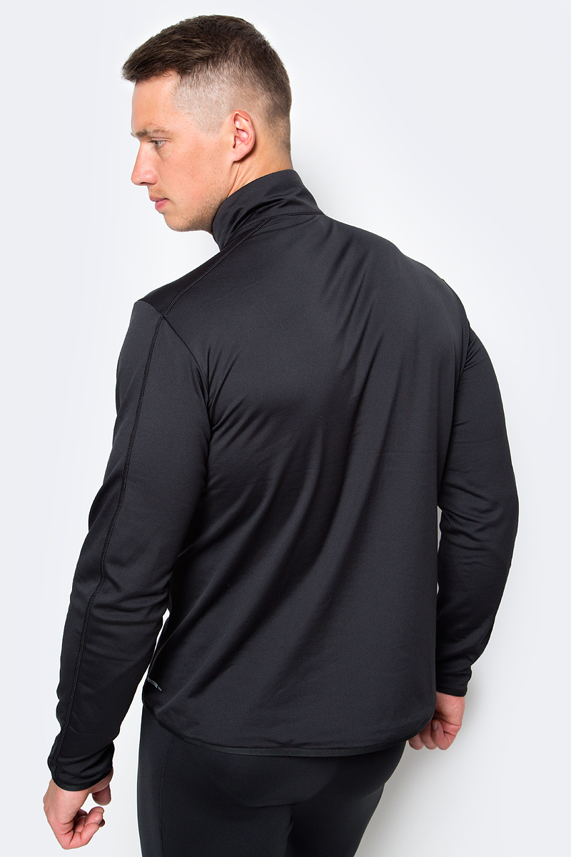 Легкая толстовка Discovery спортивного края изготовлена из эластичного микрофлиса. Эта мягкая дышащая толстовка служит идеальным теплым промежуточным слоем. Модель с воротником-стойкой и длинными рукавами застегивается на молнию. Спереди имеется прорезной карман на молнии.