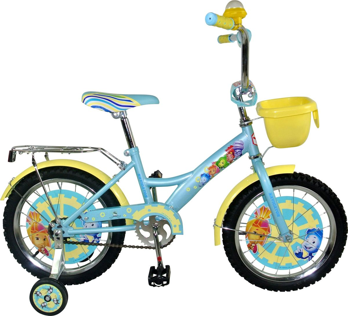 Велосипед детский Navigator Фиксики, цвет: голубой, 18. ВН18077КВН18077КДетский велосипед с ярким дизайном и популярной лицензией Фиксики.