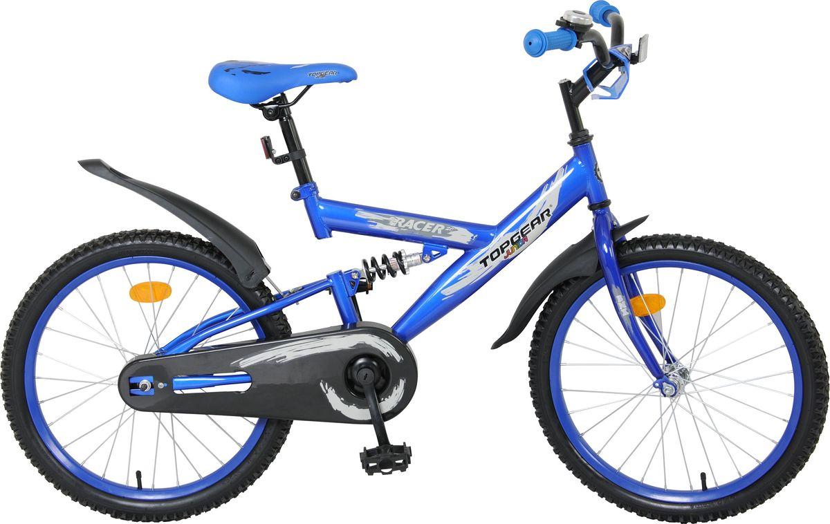 Велосипед детский Top Gear Junior. Racer, цвет: синий, 20. ВН20033ВН20033Top Gear Junior - коллекция люксового сегмента, велосипеды взрослого качества и конструкции - специально для детей. Продукция Top Gear Junior обладает всеми улучшенными характеристиками Navigator, а также своими уникальными особенностями. Велосипеды выгодно выделяются, благодаря яркому цветному дизайну седла и вставок в колёса и разнообразным дополнительным аксессуарам.Какой велосипед выбрать? Статья OZON Гид