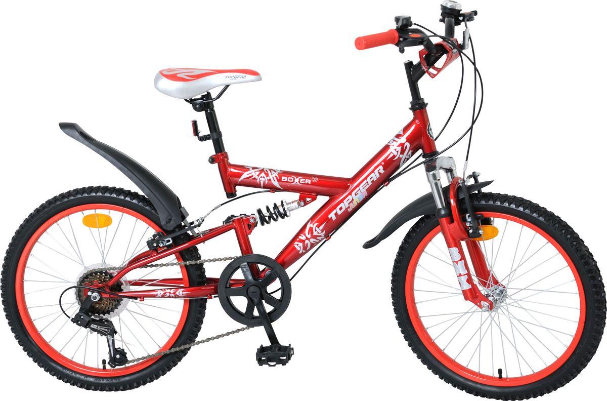 Велосипед детский Top Gear Юниор Racer, цвет: красный, 20. ВН20056ВН20056Top Gear Junior – коллекция люксового сегмента, велосипеды взрослого качества и конструкции – специально для детей. Продукция TG Junior обладает всеми улучшенными характеристиками Navigator, а также своими уникальными особенностями. Велосипеды выгодно выделяются в помещении торговых точек, благодаря яркому цветному дизайну седла и вставок в колёса, разнообразным дополнительным аксессуарам.