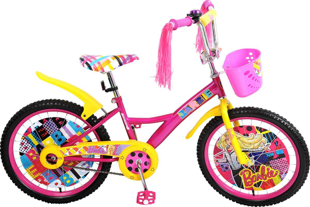 Велосипед детский Navigator Barbie, цвет: розовый, 20. ВН20159КВН20159КДетский велосипед с ярким дизайном и популярной лицензией Barbie