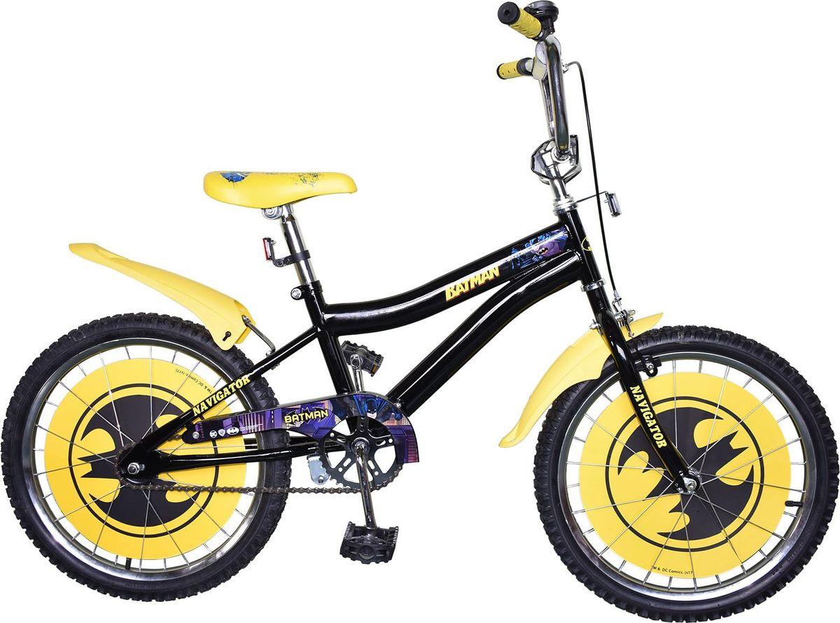 Велосипед детский Navigator Batman, цвет: черный, 20. ВН20172 navigator самокат двуколесный цвет черный оранжевый