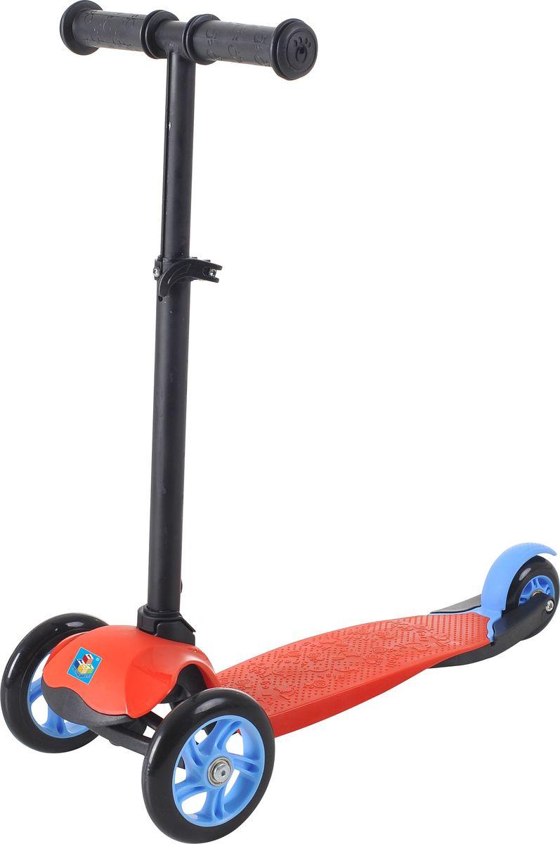 Самокат детский трехколесный 1 Toy,цвет: красный. Т59690Т59690Самокат трехколесный, управляется наклоном