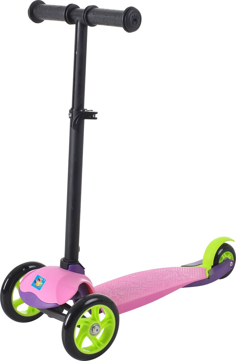Самокат детский трехколесный 1 Toy, цвет: фиолетовый. Т59691Т59691Самокат трехколесный, управляется наклоном