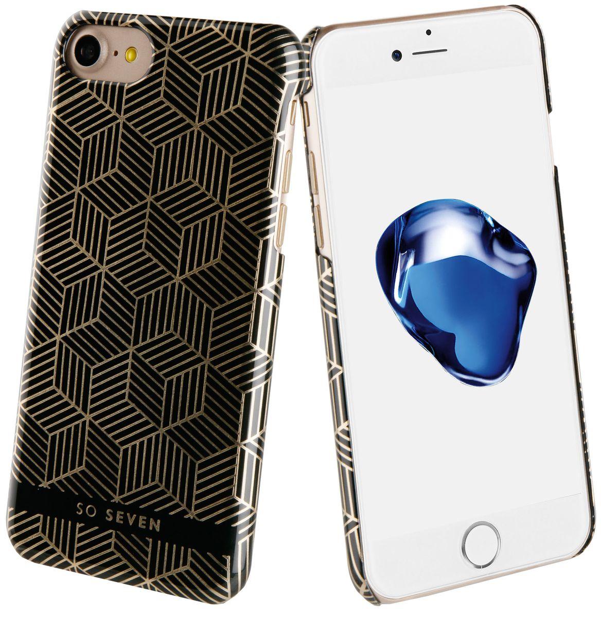 So Seven Midnight Cubic чехол для Apple iPhone 7/8, BlackSVNCSMDCBKIP7Чехол-накладка So Seven Midnight Cubic для Apple iPhone 7/8 обеспечивает надежную защиту корпуса смартфона от механических повреждений и надолго сохраняет его привлекательный внешний вид. Накладка выполнена из высококачественного материала, плотно прилегает и не скользит в руках. Чехол также обеспечивает свободный доступ ко всем разъемам и клавишам устройства.