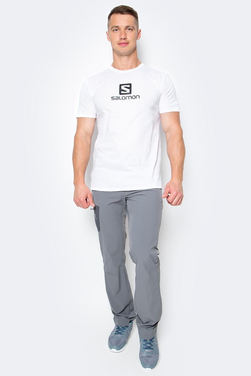 Футболка мужская Salomon Cotton Logo SS Tee, цвет: белый. L39376200. Размер M (48/50) футболка salomon футболка ski graphic ss tee m black
