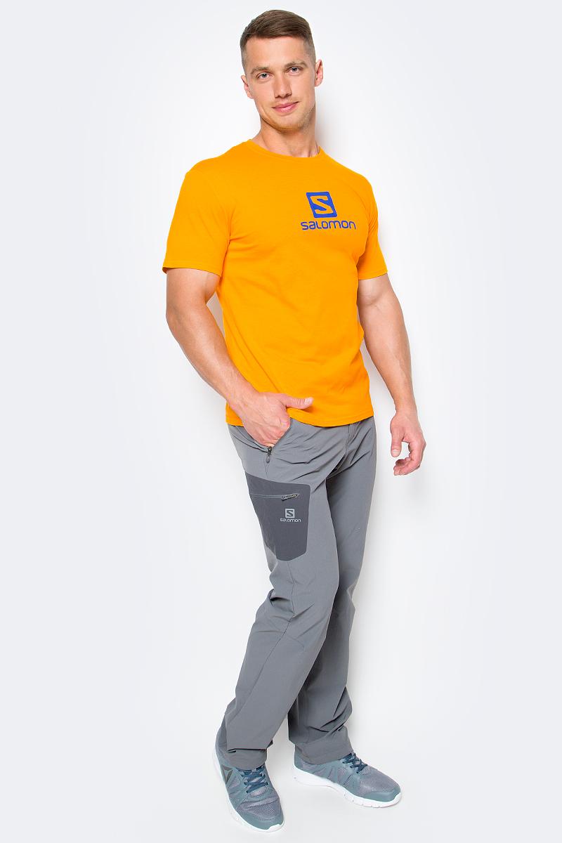 Футболка мужская Salomon Cotton Logo SS Tee, цвет: желтый. L39376500. Размер M (48/50) футболка salomon футболка ski graphic ss tee m black