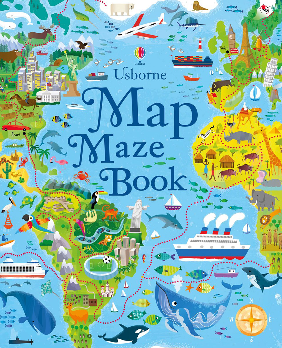 Map maze book higher than the eagle soars a path to everest
