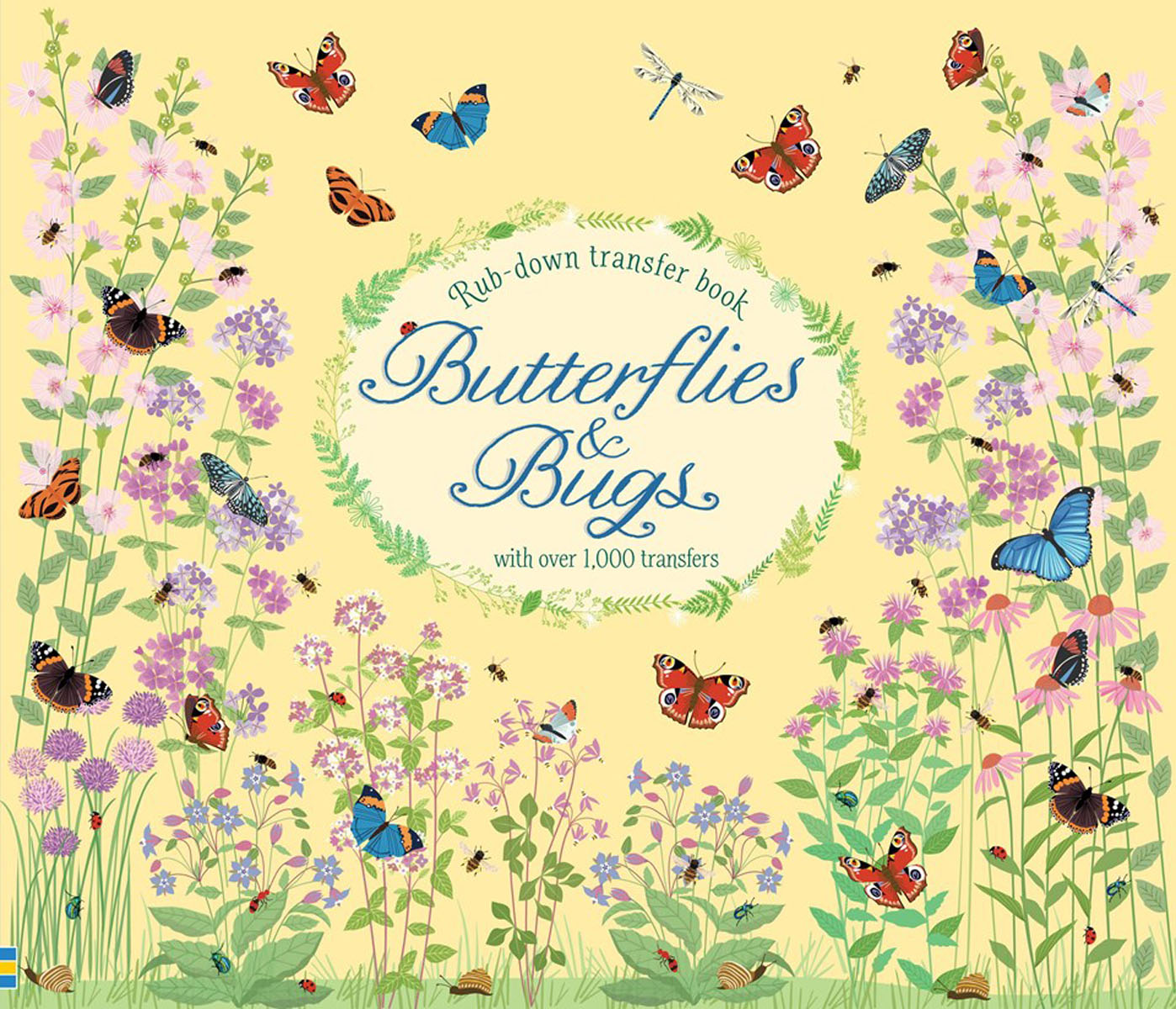 Butterflies and bugs bugs in a blanket
