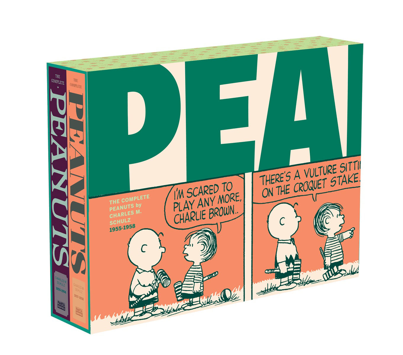 The Complete Peanuts 1955-1958 10pcs set the complete collection of murals unearthed in china 10 volumes