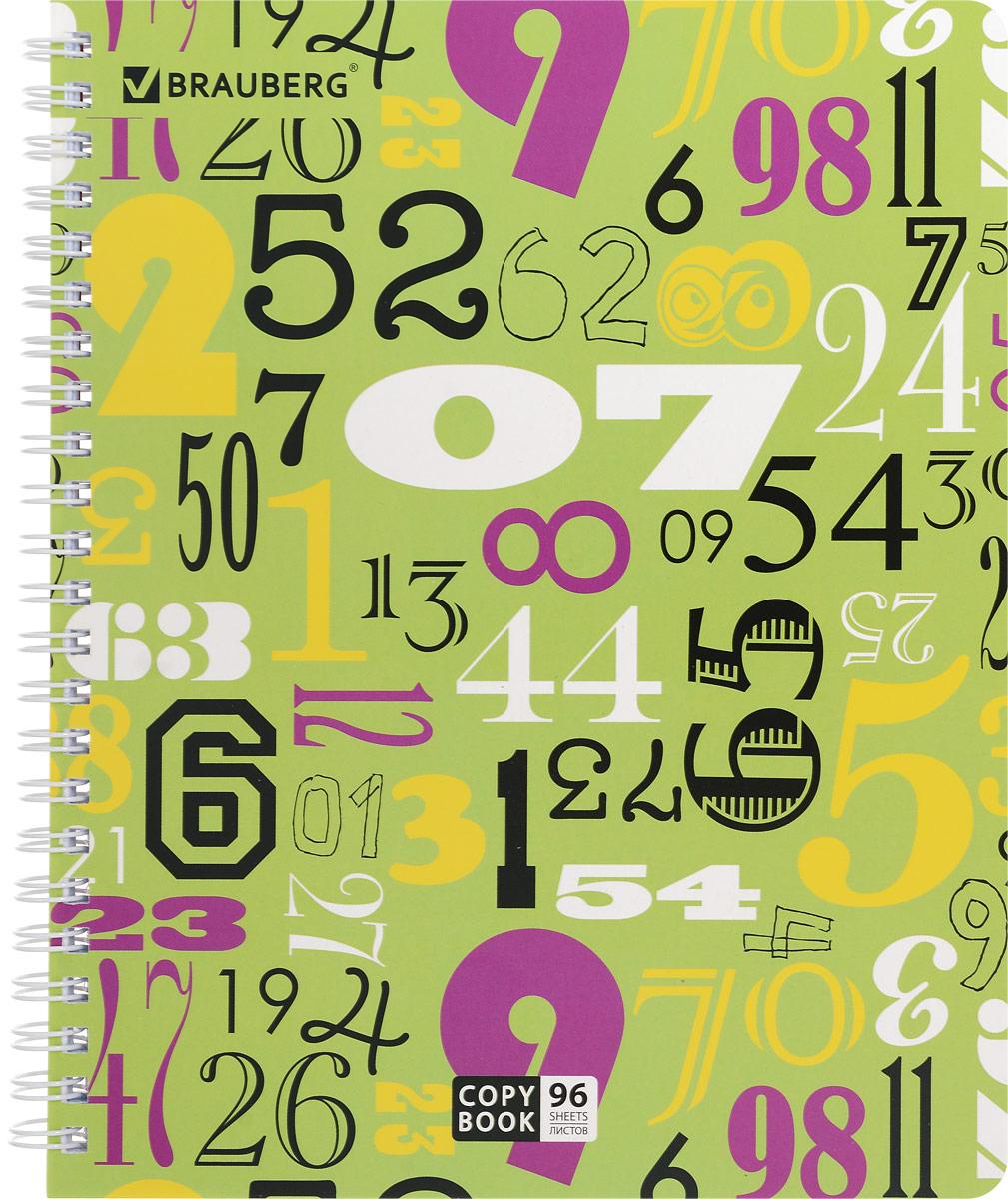 Brauberg Тетрадь Numeric 96 листов в клетку401852Двойная тетрадь Brauberg Numeric с четырьмя обложками подойдет как школьнику, так и студенту. Обложка тетради с закругленными углами выполнена из плотного картона, что позволит сохранить ее в аккуратном состоянии на протяжении всего времени использования.Внутренний блок тетради, соединенный металлическим гребнем, состоит из 96 листов белой бумаги. Стандартная линовка в клетку без полей.