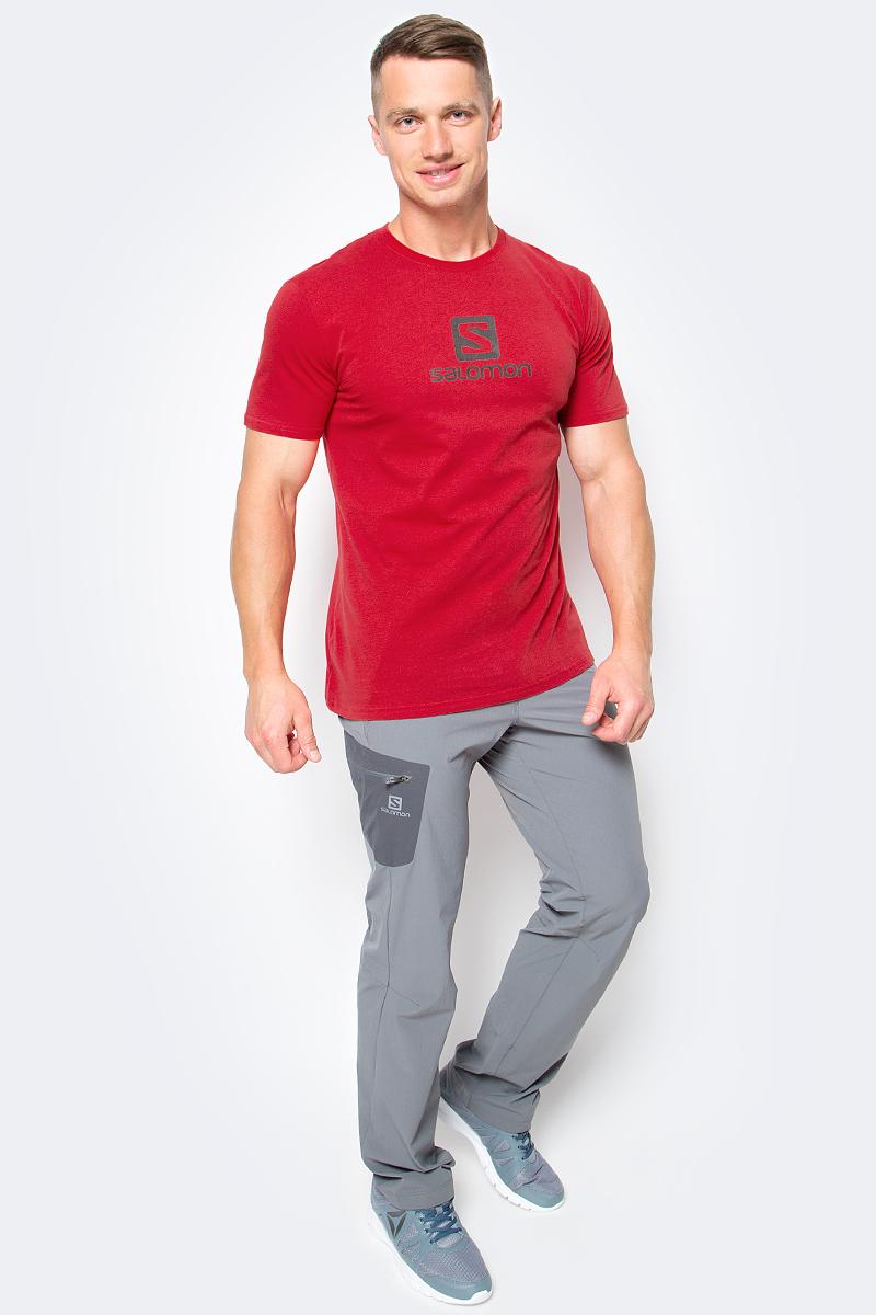 Футболка мужская Salomon Cotton Logo SS Tee, цвет: красный. L39376300. Размер M (48/50) футболка salomon футболка ski graphic ss tee m black