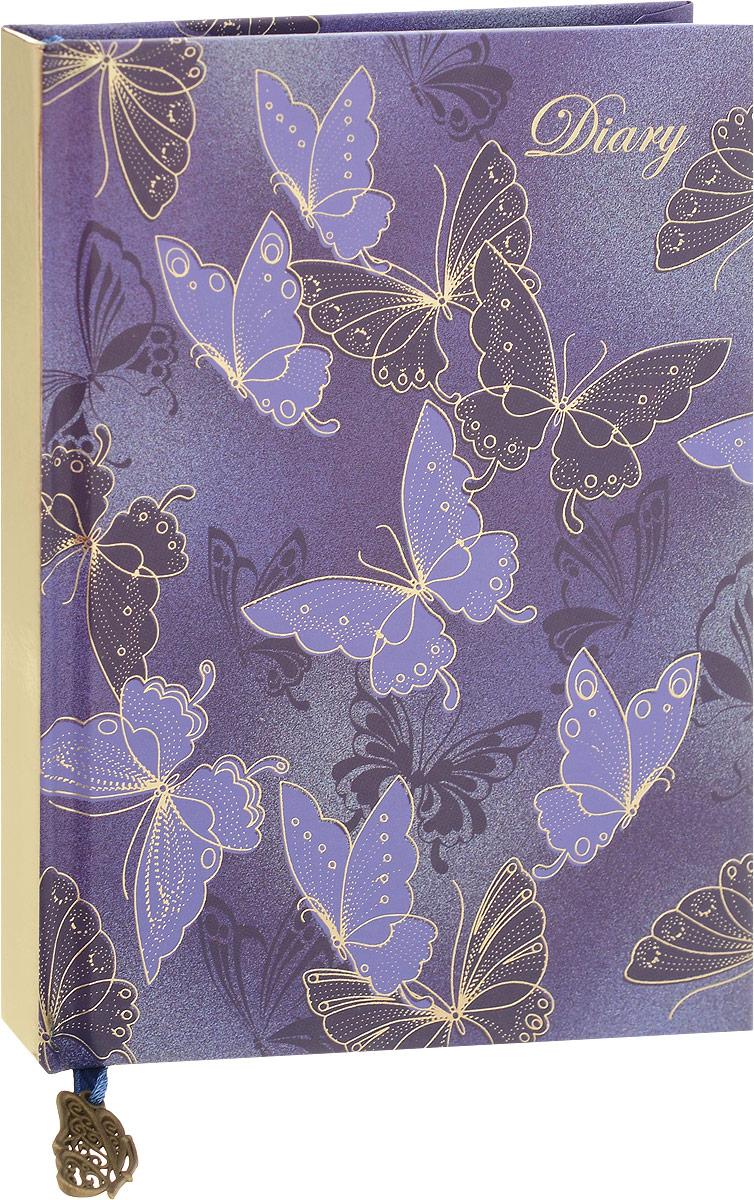 Феникс+ Ежедневник Бабочки 80 листов44127Недатированный ежедневник Феникс+ Бабочки - это один из удобных способов систематизациивсех предстоящих событий и незаменимый помощник для каждого. Обложка выполнена из твердого переплета, картона 7Бц, фиолетового цвета с рисунком из фольги в виде бабочек. Обложка имеет золотистый срез.Внутренний блок включает 80 листов офсетной бумаги формата А6, имеется ляссе с металлической фигуркой. Первая страница ежедневника представляет собой анкету для заполнения личных данных владельца. Имеется справочно-информационный блок.Все планы и записи всегда будут у вас перед глазами, что позволит легко ориентироваться вграфике дел, событий и встреч.