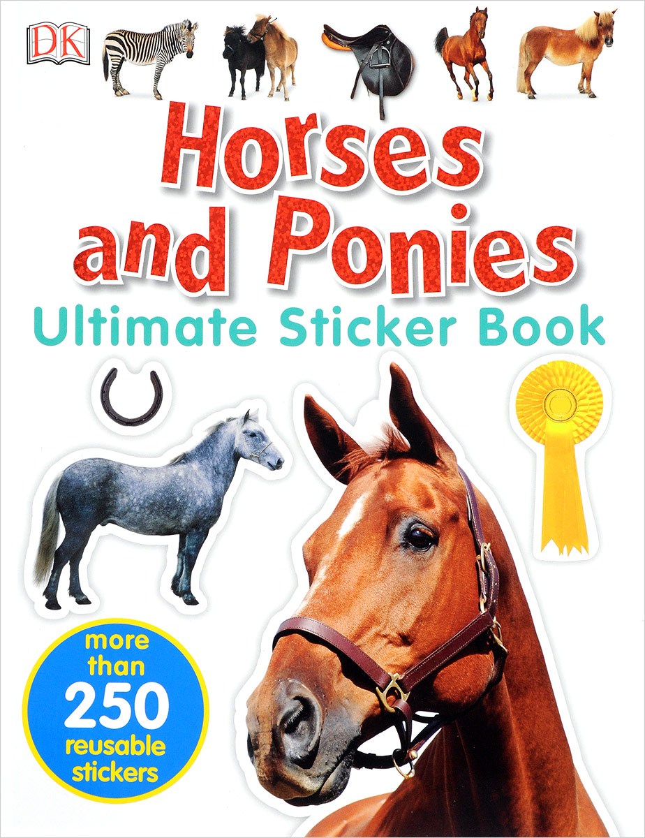 Horses and Ponies bugs sticker book 400 reusable stickers