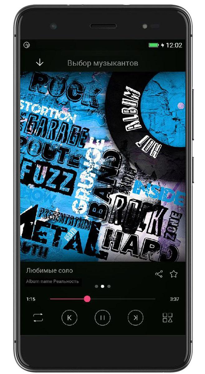 Highscreen Fest XL, Blue23929Тонкий смартфон в привлекательном дизайне, с музыкальным чипсетом, TouchID
