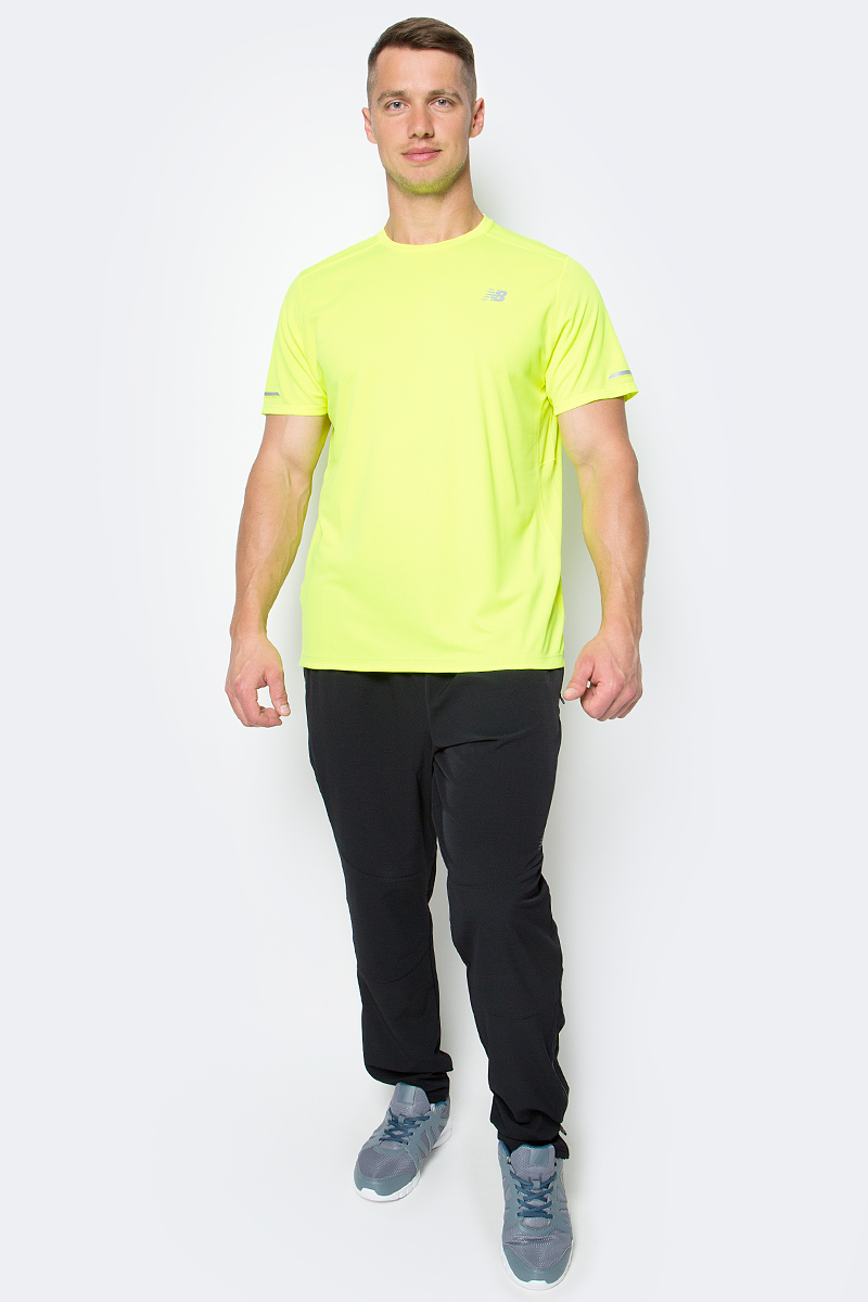 Футболка мужская New Balance Ice Ss Tee, цвет: салатовый. MT63223/HIL. Размер XXL (52/54) футболка assault ice