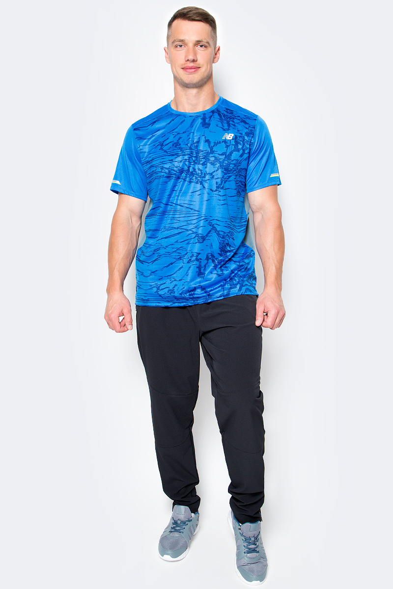 Футболка мужская New Balance Ice Grathic Ss, цвет: синий. MT71224/EBP. Размер M (46/48) футболка assault ice