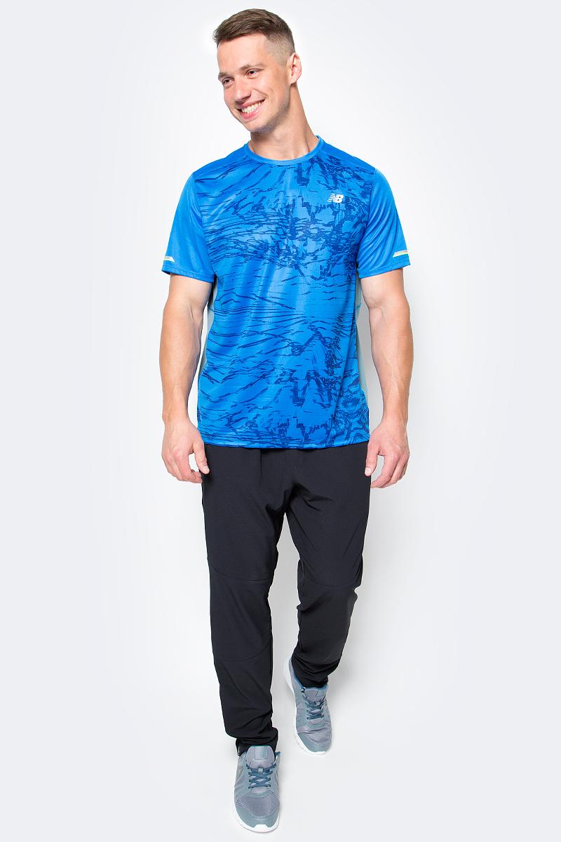 Брюки для бега мужские New Balance Intensity Pant, цвет: черный. MP71046/BK. Размер L (48/50)MP71046/BKМужские брюки для бега Intensity Pant от New Balance прекрасно подойдут для ежедневного занятия спорта. Легкий материал поможет сохранить высокую скорость, а эластичный пояс на резинке обеспечит комфорт. Молнии на лодыжках для быстрого переодевания. Эти стильные брюки идеально подойдут для бега и других спортивных упражнений. В них вы будете чувствовать себя уверенно и комфортно.
