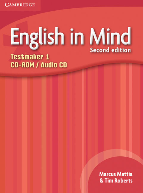 English in Mind Level 1 Testmaker CD-ROM and Audio CD networking in english cd rom