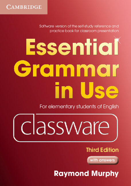 Essential Grammar in Use: Third edition: Classware (DVD-ROM + CD-ROM) murphy raymond smalzer william r basic grammar in use third edition students book with answers and cd rom