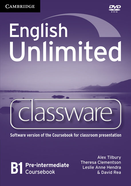 English Unlimited Pre-intermediate Classware DVD-ROM murphy r essential grammar in use 3rd edition classware for elementary students of english dvd rom