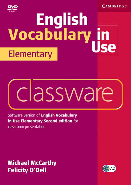 English Vocabulary in Use Elementary Classware murphy r essential grammar in use 3rd edition classware for elementary students of english dvd rom