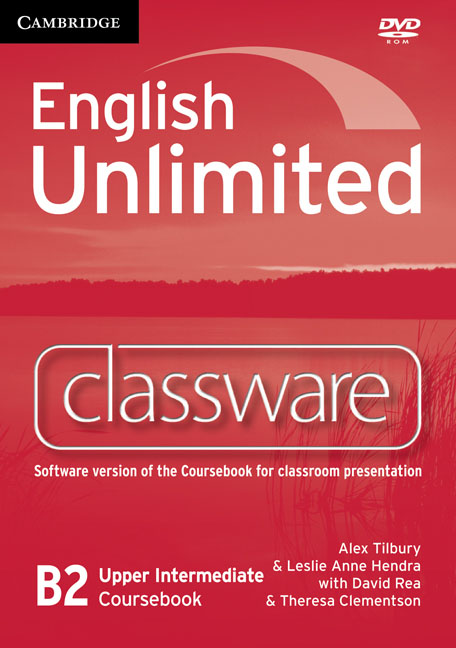 English Unlimited Upper Intermediate Classware DVD-ROM murphy r essential grammar in use 3rd edition classware for elementary students of english dvd rom