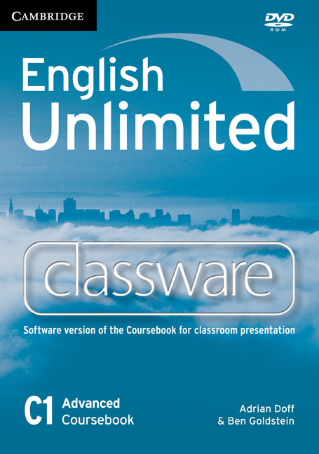 English Unlimited Advanced Classware DVD-ROM murphy r essential grammar in use 3rd edition classware for elementary students of english dvd rom