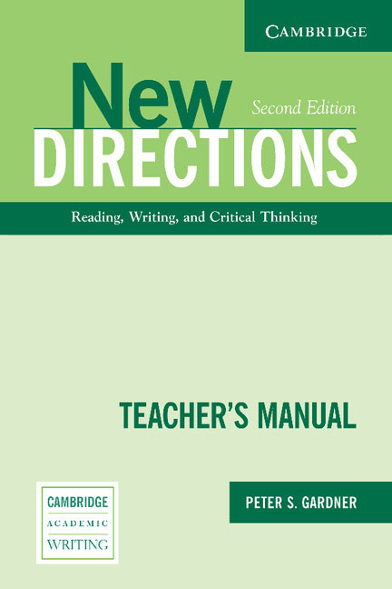 New Directions Teacher's Manual