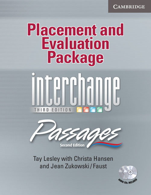Placement and Evaluation Package Interchange Third Edition/Passages Second Edition with Audio CDs (2) ray sammartano the complete idiot s guide to vegan living second edition