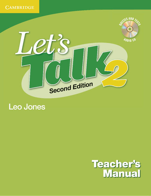 Let's Talk Level 2 Teacher's Manual 2 with Audio CD brown s smith d active listening second edition student s book 2 cd