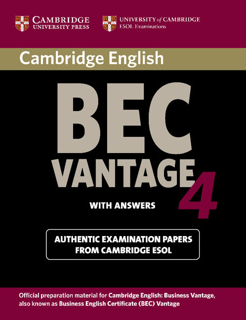 Cambridge English: BEC Vantage 4: Student's Book with answers сумка the cambridge satchel