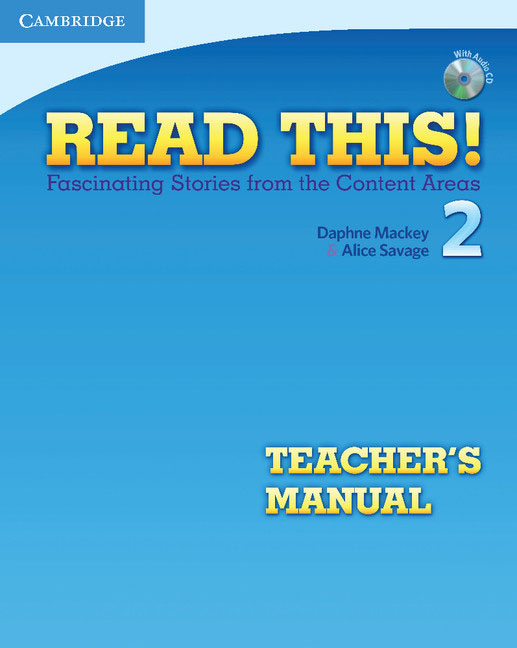 Read This! Level 2 Teacher's Manual with Audio CD touchstone teacher s edition 4 with audio cd