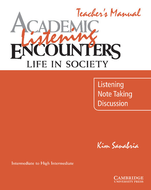 Academic Listening Encounters Life in Society: Listening, Note Taking, Discussion Teacher's Manual hp designjet t830 36 f9a30a