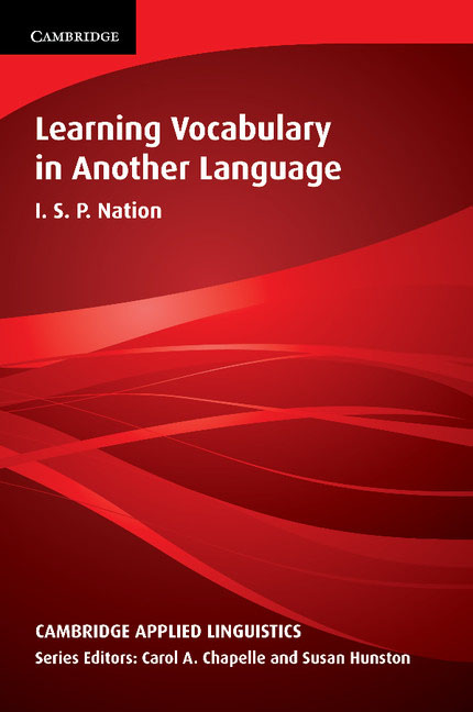 Learning Vocabulary in Another Language strategic vocabulary learning