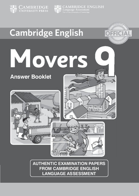 Cambridge English Young Learners 9 Movers Answer Booklet fun for movers cd