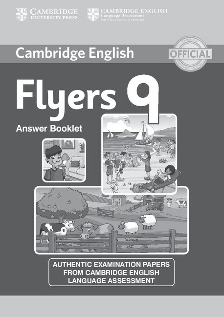 Cambridge English Young Learners 9 Flyers Answer Booklet cambridge learners dictionary english russian paperback with cd rom