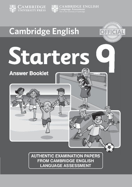 Cambridge English 9: Starters: Answer Booklet cambridge learners dictionary english russian paperback with cd rom