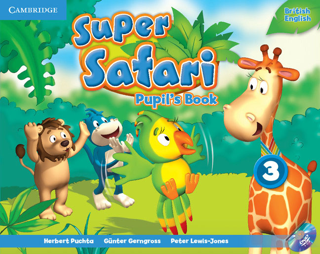 Super Safari: Level 3: Pupil's Book (+ DVD-ROM) chic canvas leather british europe student shopping retro school book college laptop everyday travel daily middle size backpack