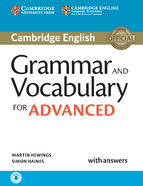 Grammar and Vocabulary for Advanced Book with Answers hewings martin advanced grammar in use book with answers and interactive ebook