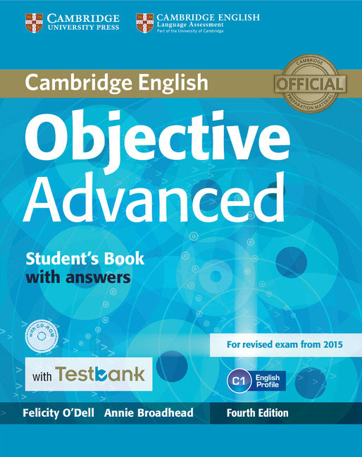 Objective Advanced Student's Book with Answers with CD-ROM with Testbank objective advanced workbook with answers cd