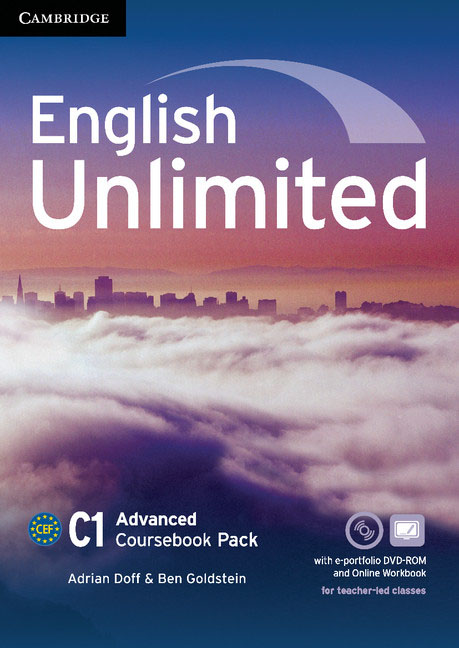 English Unlimited Advanced Coursebook with e-Portfolio and Online Workbook Pack english unlimited elementary coursebook dvd rom