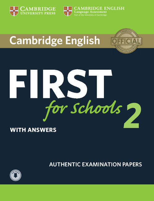 Cambridge English First for Schools 2 Student's Book with answers and Audio сумка the cambridge satchel