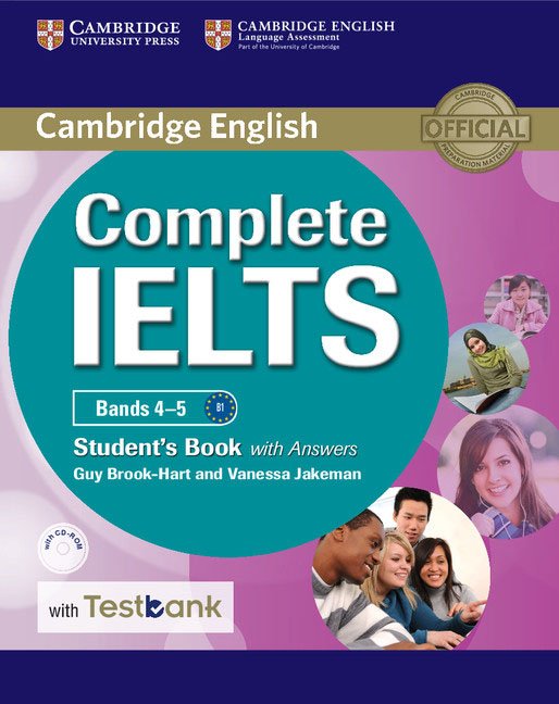 Complete IELTS Bands 4–5 Student's Book with Answers with CD-ROM with Testbank grammar and vocabulary for advanced book with answers