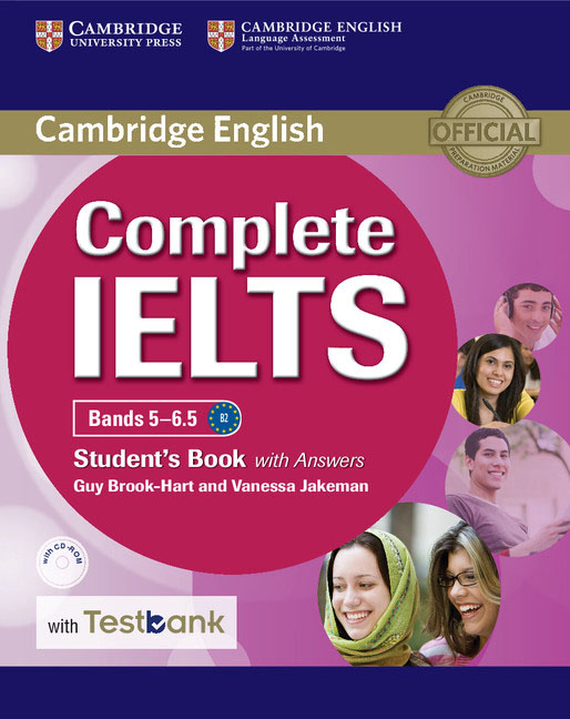 Complete IELTS Bands 5–6.5 Student's Book with Answers with CD-ROM with Testbank cambridge grammar for pet book with answers 2 cd
