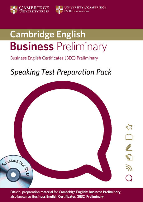 цена на Speaking Test Preparation Pack for BEC Preliminary Paperback with DVD