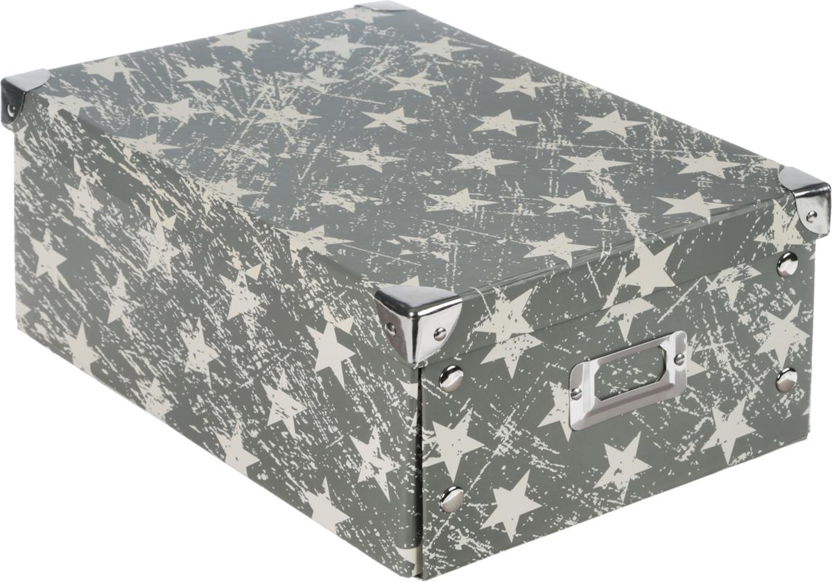 Коробка для хранения, складная, цвет: хаки, бежевый, 24 х 32 х 13 смLS-1017 ABКоробкадля хранения изготовлена из высококачественного плотного картонаи оформлена оригинальным принтом. Она предназначена для хранения различных мелочей. Изделие легко собирается с помощью металлических креплений и не занимает много места. Такая коробка для хранения идеальное решение для аккуратного хранения различных ниток, канцелярских товаров.Размер коробки (в собранном виде): 24 х 32 х 13 см.