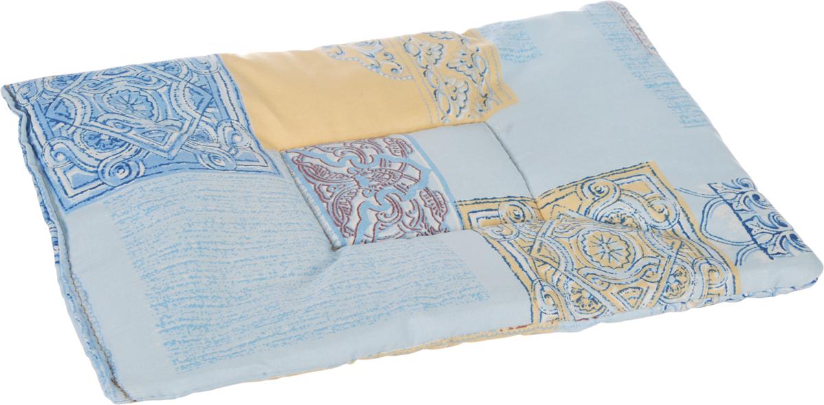 Лежак для животных Elite Valley Матрасик, цвет: голубой, 25 х 40 см. Л16/1Л16/1Лежак для животных Elite Valley Матрасик изготовлен из высококачественной бязи и оформлен оригинальным принтом. Наполнение выполнено из синтепона, обеспечивающего тепло и мягкость.Идеален для переносок и использования в автомобиле. Он станет излюбленным местом вашего питомца, подарит ему спокойный и комфортный сон. Высота матраса: 2 см.